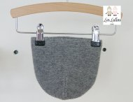 LES LUTINS Baby Cashmere Mütze Grau