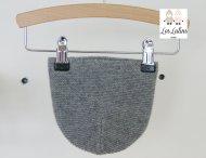 LES LUTINS Baby Girls Grey Cashmere Hat