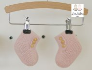 LES LUTINS Baby Girls Pink Cashmere Shoes