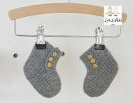 LES LUTINS Baby Girls Grey Cashmere Shoes