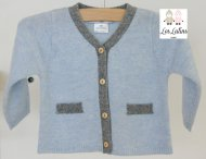 LES LUTINS Baby Blue Cashmere Cardigan with Pants