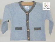 LES LUTINS Baby Cashmere Strickjacke mit Hose in Blau