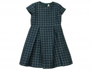 IL GUFO Girls Blue Taffeta Dress