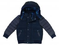 HUGO BOSS Kids Kapuzen Daunenjacke in Blau