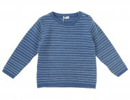 IL GUFO Boys Denim Blue Cashmere Sweater