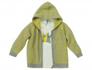 IL GUFO Boys Yellow & Gray Cashmere Cardigan