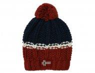 NAPAPIJRI KIDS Red & Blue Wool Hat