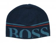 HUGO BOSS Kids Mütze mit Logo in Blau