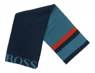 HUGO BOSS Kids Schal mit Logo in Blau