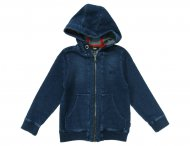HUGO BOSS Kids Kapuzen Sweatjacke in Jeansblau