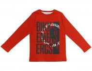 BIKKEMBERGS KIDS Langarmshirt mit Print in Rot