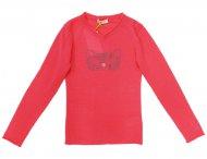 FRENCHY YUMMY Mädchen Cashmere Pullover mit Katze in Pink
