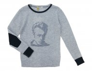 FRENCHY YUMMY Jungen Cashmere Pullover in Grau