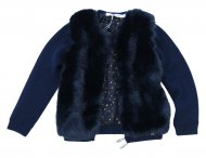 LU LU Fell Strickjacke in Blau