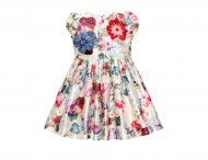 QUIS QUIS Girls Dress with Flowers