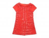 QUIS QUIS Jerseykleid mit Pailletten in Rot