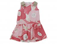 IL GUFO Girls Pink Cotton Summer Dress