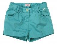 IL GUFO Mädchen Sommer Shorts mit Taschen in Türkis