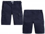ARMANI JUNIOR Sommer Cargo Shorts in Marine