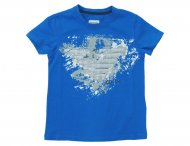 ARMANI JUNIOR T-Shirt mit Frontdruck in Royalblau