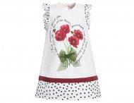 MONNALISA Bebe Kleid mit Mohnblumen in Weiß