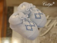 CATYA Babysocken mit Stickerei in Blau