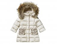IL GUFO Girls Beige Down Coat with Bows