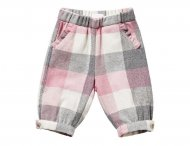 IL GUFO Girls Pink & Gray Capri Pants