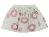 IL GUFO Girls Gray Skirt with Circles