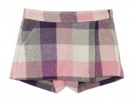 IL GUFO Girls Purple & Pink Wool Shorts