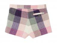 IL GUFO karierte Shorts in Grau-Pink