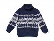 IL GUFO Boys Blue & Gray Wool Sweater