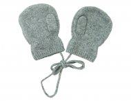 LES LUTINS Kaschmir Handschuhe Fäustlinge in Grau