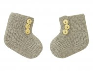 LES LUTINS Baby Brown Cashmere Booties