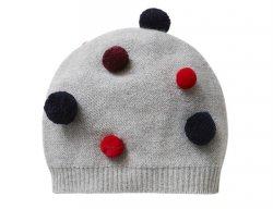 IL GUFO Mütze mit 3D Pompons in Grau