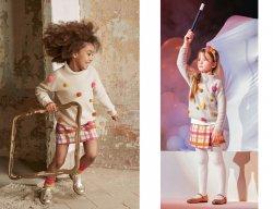 IL GUFO Mädchen Pullover mit 3D Pompons in Beige