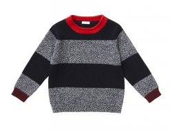 IL GUFO Boys Blue Wool Sweater