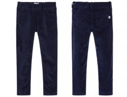 IL GUFO Girls Navy Blue Velvet Pants