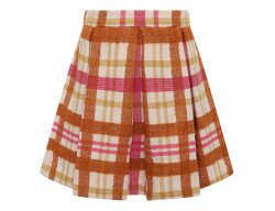 IL GUFO Girls Folding Skirt with Check Pattern