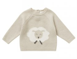 IL GUFO Beige Wool Sweater with Sheep