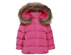 IL GUFO Girls Pink Winter Down Jacket