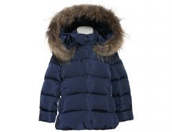 IL GUFO Girls Navy Blue Winter Down Jacket