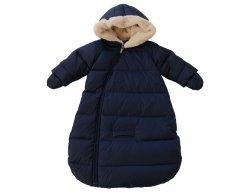 IL GUFO Baby Navy Blue Down Sleeping Bag