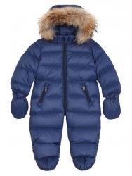EDDIE PEN Baby Daunen Overall Schneeanzug in Blau