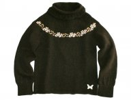 KENZO KIDS Party Surprise chocolate brown knit sweater
