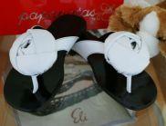 ELI Kinderschuhe Sandalen weiß/schwarz