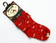 BONNIE DOON Baby Frou Frou Flower Socken rot